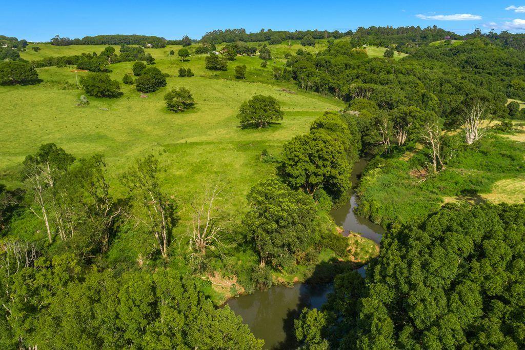 swimming hole beautiful rural landscape views aerial Federal Heartwood Farm Byron Bay luxury farm stay accommodation